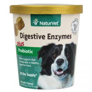 Digestive Enzymes Plus Probiotics & Prebiotics - NaturVet - Silversky
