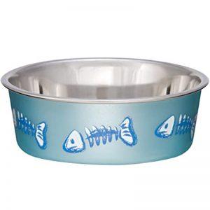 Fish - Metallic Ocean Blue (For Cats) Bella Bowls® - Loving Pets - Silversky