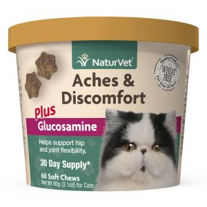 Naturvet Aches & Discomfort Plus Glucosamine for Cats - NaturVet - Silversky