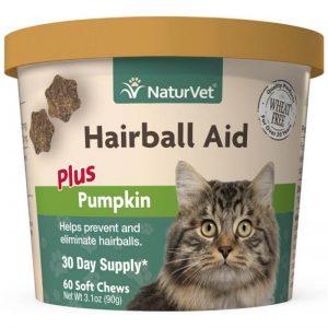 Naturvet Hairball Aid Supplement Plus Pumpkins - NaturVet - Silversky