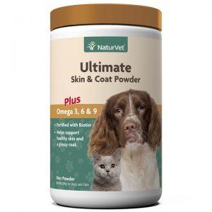 Ultimate Skin & Coat Powder Plus Omega 3, 6 and 9 - NaturVet - Silversky