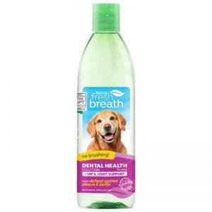 TropiClean Fresh Breath Dental Health Solution Plus Hip & Joint for Dogs, 16oz - TropiClean - Silversky