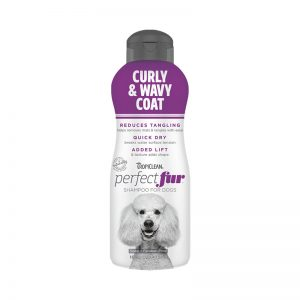 Tropiclean PerfectFur Curly & Wavy Coat Shampoo For Dogs (Front) - Perfect Fur TropiClean - Silversky