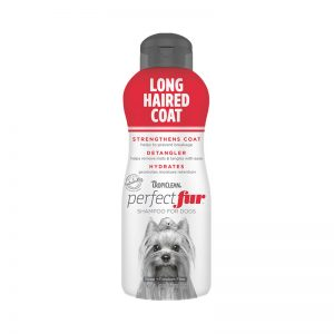 Tropiclean PerfectFur Long Haired Coat Shampoo For Dogs (Front) - Perfect Fur TropiClean - Silversky