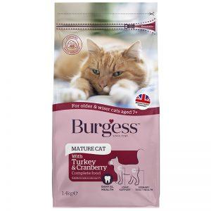 Burgess Cat Mature 1.4kg - Burgess - Yappy Pets