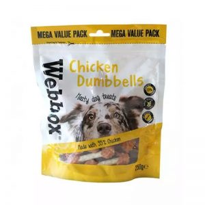 Webbox Chicken Dumbbells Bulk Bag - Webbox - Adec Distribution
