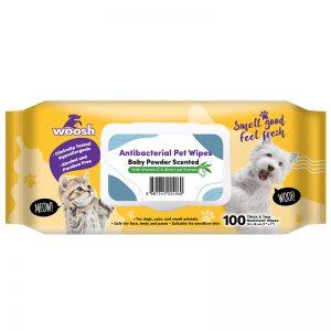 Woosh Antibacterial Pet Wipes