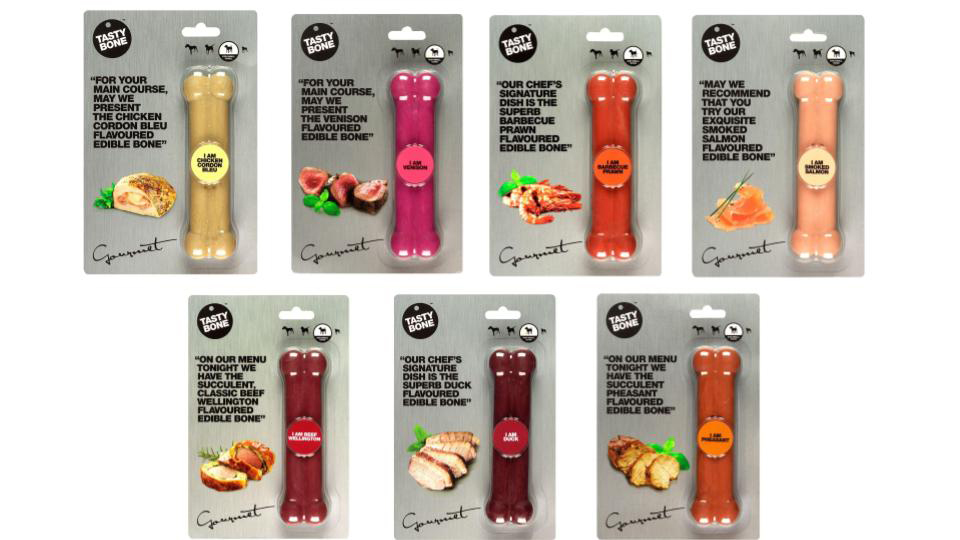 Tasty Bone Gourmet Series: Edible Chew Toys for Dogs in 7 Mind-Blowing Flavours!